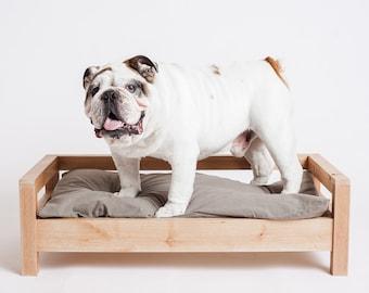 Medium Dog Bed - Modern Dog Bed - Dog Furniture - Elevated Dog Bed - Pet Furniture - Wooden Dog Bed - Custom Dog Bed -