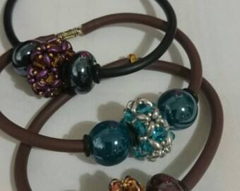 Bracelets with handmade pandorina