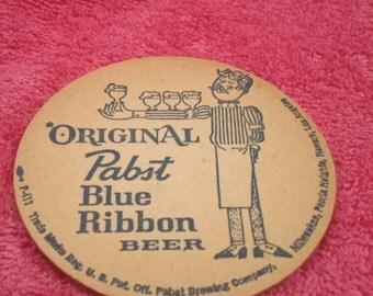 Vintage Original Pabst Blue Ribbion Beer Coaster