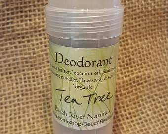 Organic deodorant, tea tree deodorant, aluminum free deodorant, organic coconut oil deodorant, arrowroot deodorant, natural deoderant