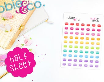 Libbie's Littles Hockey Puck Stickers! Perfect for Erin Condren, Happy, Mambi, Plum Paper and ...
