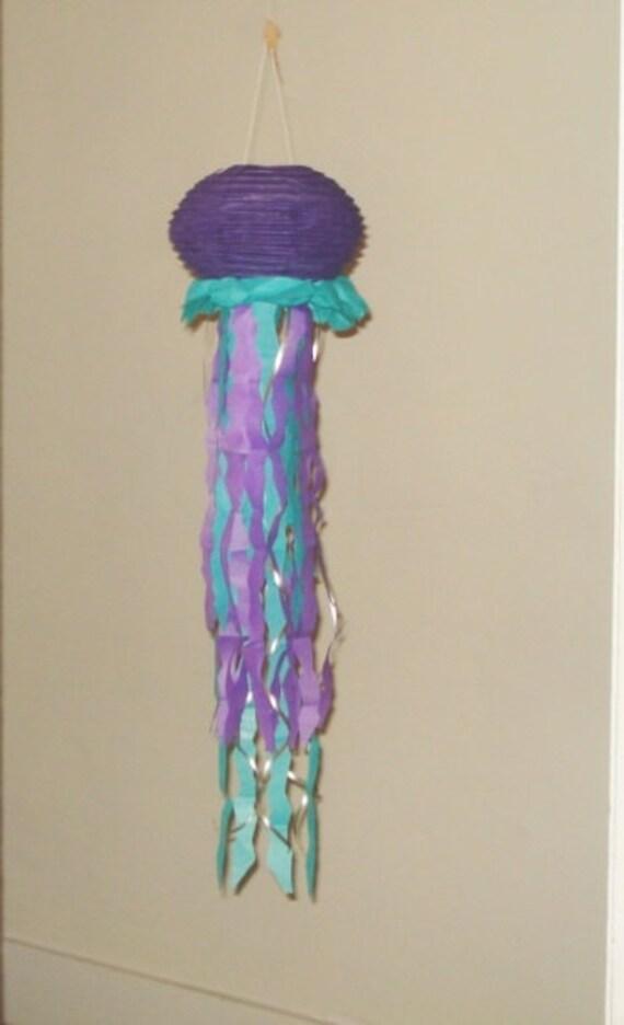 Purple Jellyfish Paper Lanterns 8 Party Decorations