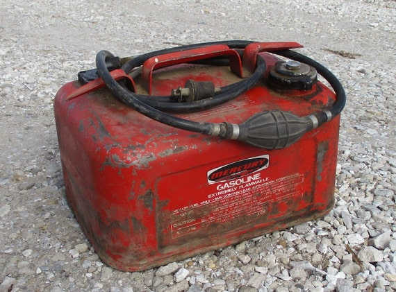 Mercury Gasoline Gas Fuel Tank Outboard Boat By Theoldgrainery