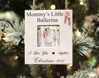 Ballet Ornament Christmas Gift Personalized Photo Ornament for Ballerina Ballet Dancer Christmas Holiday GIFT