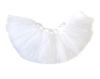 Baby 5-Layer Ballerina Tulle Tutu - White