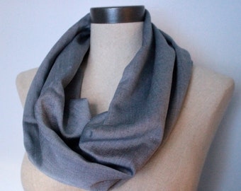 Iridescent Grey Voile Circle Scarf