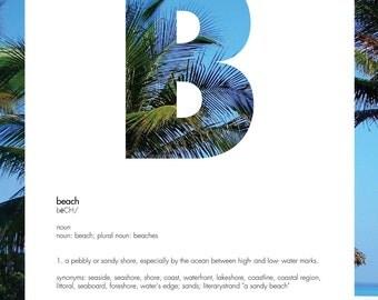 B Beach Definition Print [blue]