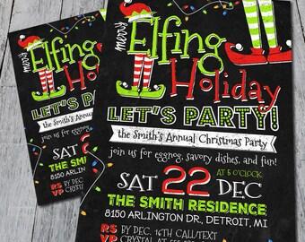 Let's Get Elfed Up Invitation (Digital)