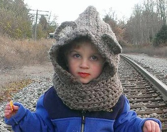 Teddy Bear Cowl Hat