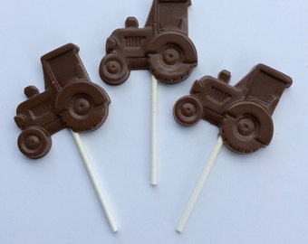 12 Tractor Chocolate pops