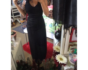 black sparkly halter gown