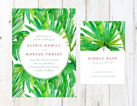 mariage tropical invitation faire part de mariage de. Black Bedroom Furniture Sets. Home Design Ideas