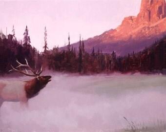 Elk Art Print by Artist Jared Barnes