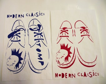 Set of 2 A4 Doc Martens Modern Classics Mono-Prints