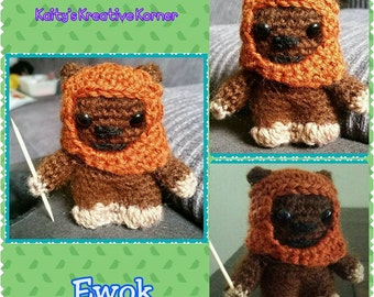 Wicket the Ewok crochet star wars amigurumi doll