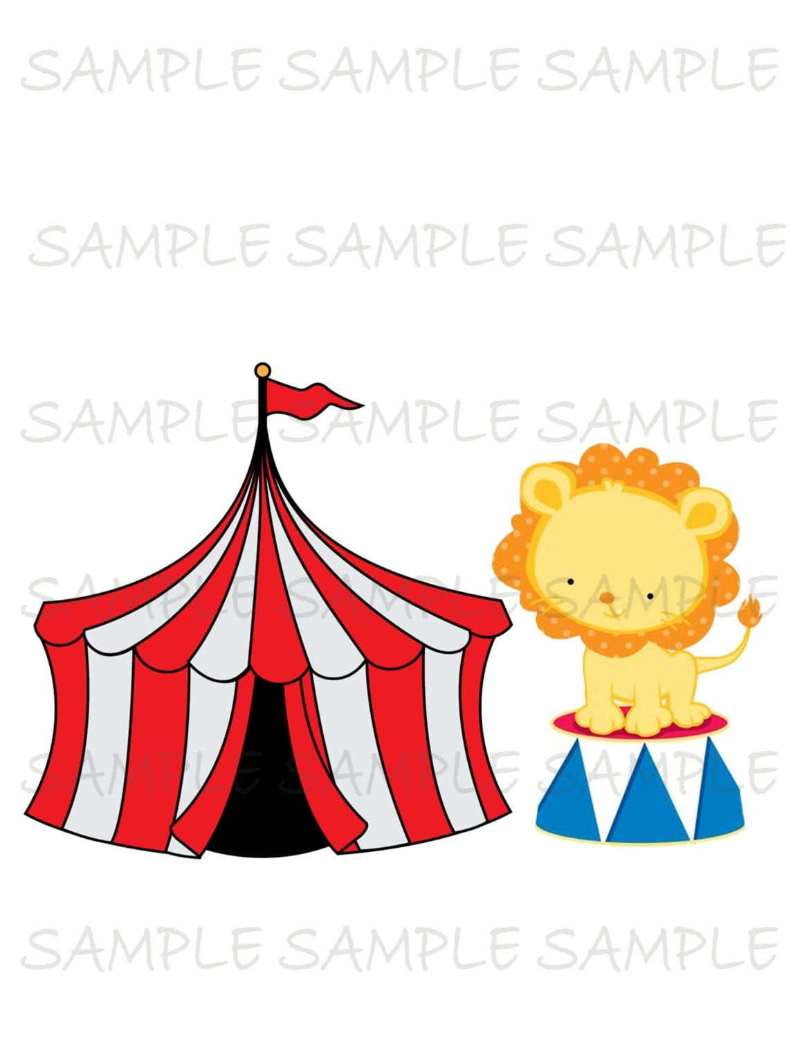 Circus IMAGE Use as Printable Iron On Transfer or Clip art carnival tent circus lion Instant Download DIY  sc 1 st  Etsy Studio & Circus Tent Favor Box Gift Box Girly Party Circus Party Favor ...