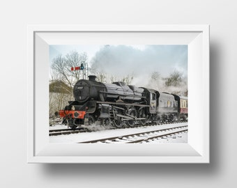 Lancashire Fusilier / Steam Train / Railway / Locomotive / ELR / British Rail / Wall Art / Print / Snow / Ramsbottom /