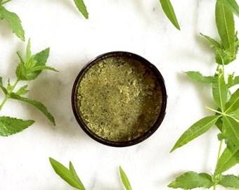Green Tea & Jasmine Body Scrub   100% Natural   Sugar Scrub   Body Polish   8 oz
