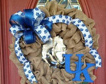 Kentucky wildcats wreath. UK wreath. Kentucky wreath. Kentucky wildcats decor. Kentucky basketball.