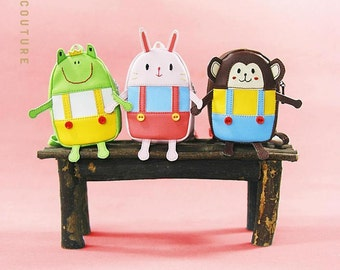Cute Rabbit/Monkey/Frog backpack for Blythe Pullip Dal Azone Poppy 1/8 1/6 BJD