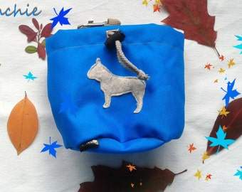 Blue dog treat bag with your favourite breed motif