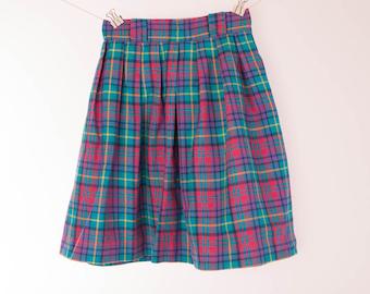 Blue plaid skirt | Etsy