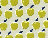 Clearance! 40% Off FQ Apples Citron PICNIC Quilting Cotton Fabric Melody Miller