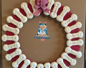 Advent/Gift Bonio Christmas Wreath For Your Dog