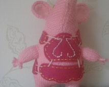 """New Hand Knitted """"Tiny"""" Clanger like the C Beebies Programme Made to Order"""