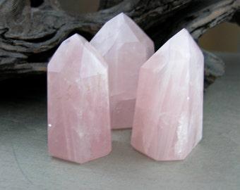 "Dazling Rose Quartz point 3"" - 3.5"" - The Romance stone"