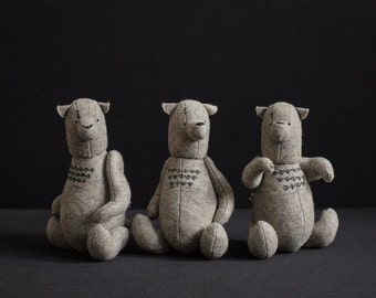 Wholesale 3 of Different Teddy Bears ForestMisha Felt Stuffed Animals Toys