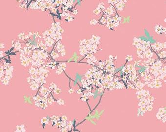 Pink Cherry Blossom, Modern Cotton Fabric, Pandalicious, Art Gallery, Yinghua Cherrylight, Katarina Roccella