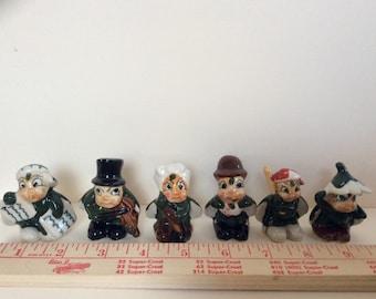 VINTAGE Set of  (6) Miniature Japanese Ladybug People, Figurines