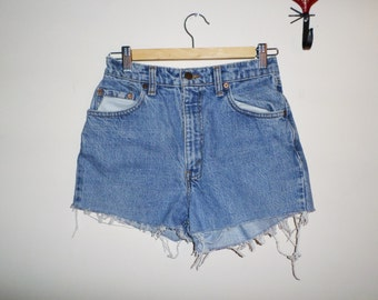 Women's 90s Levis Denim High Waist Shorts S XS