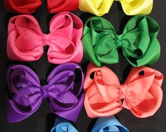 girl hair accessories rainbow colours puffy bows bulk