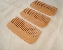 Set of 3 wood combs. Wooden combs. Wood combs. Eco-friedly wooden combs. Eco-friendly wood accessories