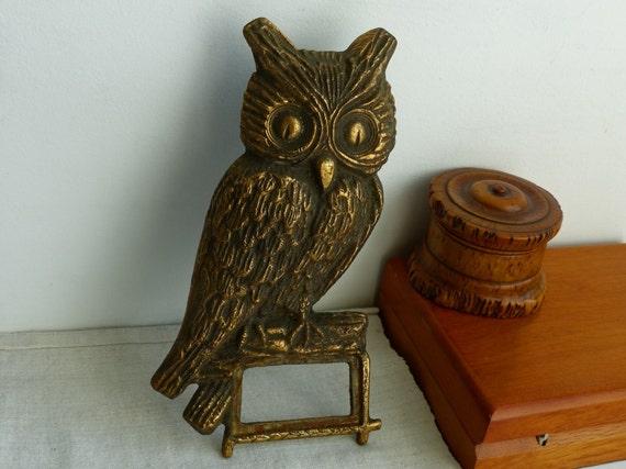 Vintage Owl Figurine Good Luck Owl Wall Hanging Decor