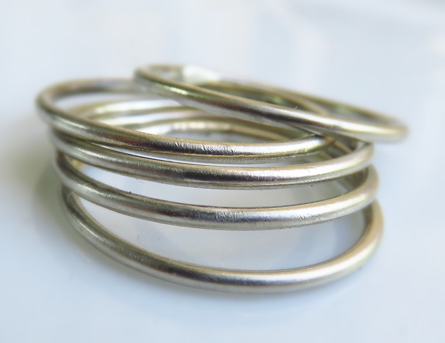 sterling silver stacking ring set of 5 sterling silver stack
