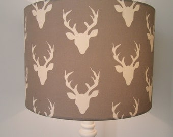 Stag Heads drum lampshade
