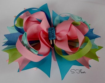 Over The Top Stacked Boutique Bow