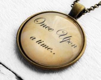 "Fairytale ""Once Upon A Time"" Pendant and Necklace"