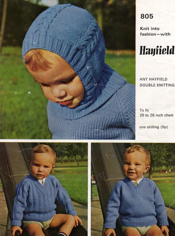 Balaclava Knitting Pattern Child : Balaclava Pattern Baby Helmet Pattern Vintage Knit Child