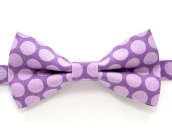 Purple Polka dot  bow tie,purple bow tie,Easter bow tie,Wedding bow tie,Party bow tie for Men,Toddlers ,Boys,Baby