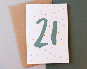 21 birthday card // Greeting card