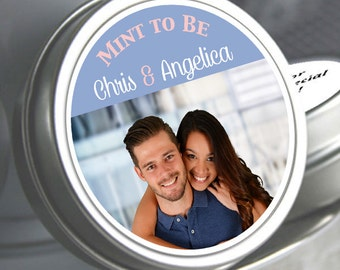 Wedding Decor - Wedding Favors - Photo Favors - Wedding Mint Tins - Personalized Wedding Favors - Mint to Be - Tin Mint Containers - Candy