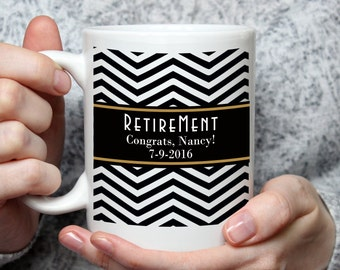Personalized Retirement Coffee Mug - 15 oz coffee mug - Custom Made Mug - Retirement Decor - Retirement Gift - Retirement Gift Ideas