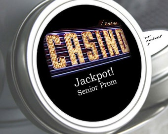 "12 Personalized Casino Mint Tin Prom Favors- Select the quantity you need below in the ""Pricing & Quantity"" option tab"