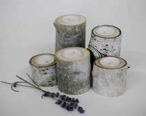 5 Aspen Tea Light Holder, Reclaimed wood, wedding centerpieces, Candle Holder, Rustic Aspen Candle holder, Bridal Shower/House Warming Gifts