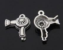 20PCS/Bulk Sale, Antique Silver Charm Pendant --- Tibetan Silver Tone, Vintage Jewelry Suplies Hair Dryer ---- 24mm*22mm, CC157-2010