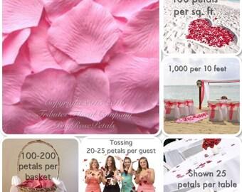 Rose Petals - Cotton Candy Pink Silk Rose Petals Value Pack